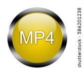 mp4 button isolated. 3d... | Shutterstock . vector #586201238