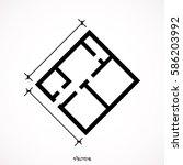 floor plan vector. icon...