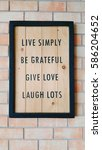 live simply be grateful give... | Shutterstock . vector #586204652