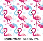 graphic seamless pattern with... | Shutterstock .eps vector #586207496