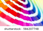 color palette guide. sample... | Shutterstock . vector #586207748
