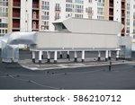 air handling unit  rooftop  for ...   Shutterstock . vector #586210712