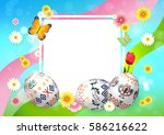 easter. greetings easter. | Shutterstock .eps vector #586216622