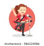 rock singer woman color