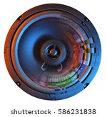 speaker with  abstract pattern... | Shutterstock . vector #586231838