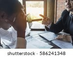 business negotiations with... | Shutterstock . vector #586241348