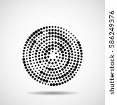 abstract dotted circles. dots... | Shutterstock .eps vector #586249376