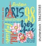 boutique paris fashion  vector... | Shutterstock .eps vector #586250585