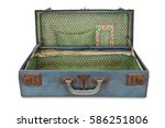 Old Blue Vintage Bag Suitcase...