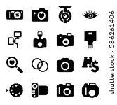 set of 16 lens filled icons...   Shutterstock .eps vector #586261406