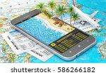 concept of travel. online... | Shutterstock . vector #586266182