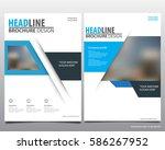 abstract vector modern flyers... | Shutterstock .eps vector #586267952