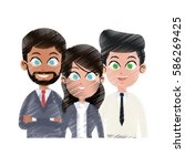 team of young business people... | Shutterstock .eps vector #586269425