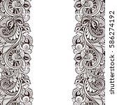 vintage frame. decorative...   Shutterstock .eps vector #586274192