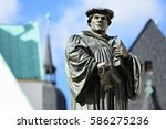 monument of martin luther on... | Shutterstock . vector #586275236