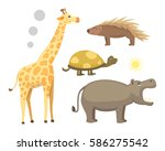 african animals cartoon vector... | Shutterstock .eps vector #586275542