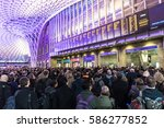 london  uk   february 23  2017  ... | Shutterstock . vector #586277852