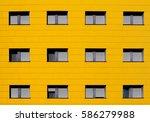 Yellow Facade Of A Modern...