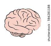 human brain icon image | Shutterstock .eps vector #586281188