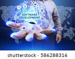 business  technology  internet... | Shutterstock . vector #586288316