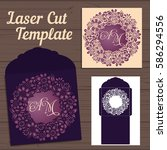 lasercut vector wedding... | Shutterstock .eps vector #586294556