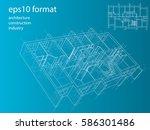 3d rendering vector... | Shutterstock .eps vector #586301486