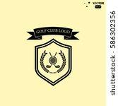 golf club logo | Shutterstock .eps vector #586302356
