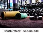 modern luxury fitness center... | Shutterstock . vector #586303538