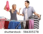 young couple having an argument ... | Shutterstock . vector #586305278