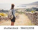 Hiker Traveler Woman On A...