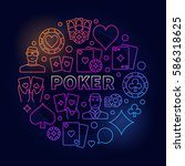 vector poker colorful... | Shutterstock .eps vector #586318625