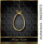 happy easter background for... | Shutterstock . vector #586325072
