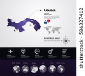 panama map vector illustration  | Shutterstock .eps vector #586327412