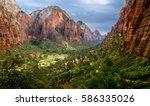 zion national park utah usa... | Shutterstock . vector #586335026