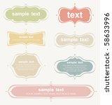 vector set of vintage frames | Shutterstock .eps vector #58633996