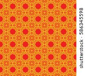 seamless texture of geometric... | Shutterstock . vector #586345598