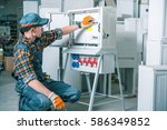 electric supply equipment... | Shutterstock . vector #586349852