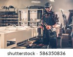 making small business.... | Shutterstock . vector #586350836