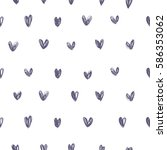 romantic pattern with hearts.... | Shutterstock .eps vector #586353062