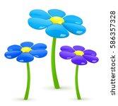 flower. vector illustration.   Shutterstock .eps vector #586357328