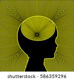 trigger of adhd and epilepsy....   Shutterstock . vector #586359296