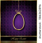 happy easter background for... | Shutterstock . vector #586362896