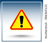 warning attention with... | Shutterstock .eps vector #586365122