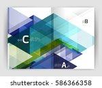 print template modern elegant... | Shutterstock .eps vector #586366358