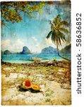 Tropical Beach   Artwork In...