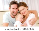 portrait of a young happy... | Shutterstock . vector #58637149