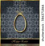happy easter background for... | Shutterstock . vector #586371866