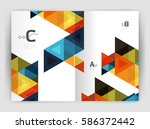 vector triangle print template. ... | Shutterstock .eps vector #586372442