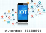 internet of everything concept... | Shutterstock .eps vector #586388996