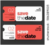 save the date minimalist modern ... | Shutterstock .eps vector #586389035